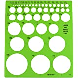 Westcott LetterCraft  Large and Small Circles Template (T-831)