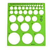#6: Westcott LetterCraft  Large and Small Circles Template (T-831)