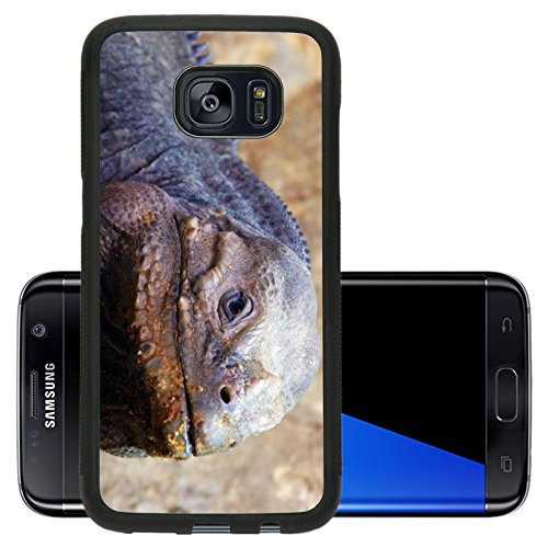Liili Premium Samsung Galaxy S7 Edge Aluminum Backplate Bumper Snap Case Closeup Of A Lizard Photo 511809