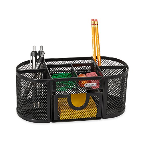 rolodex mesh pencil cup organizer  four compartments