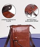 Hengwin Crossbody Shoulder Bag Men Purse Leather