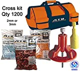 ATR Tile Leveling Alignment System Pro Kit 2mm Cross Walls & Floors Spacers Incloude ATR Tool Bag (Pro 1200)