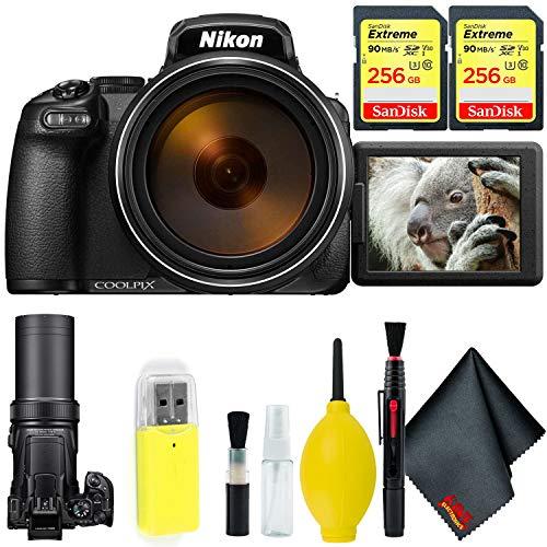 Nikon COOLPIX P1000 Digital Camera + 512GB Sandisk Extreme Memory Card Base Kit International Model
