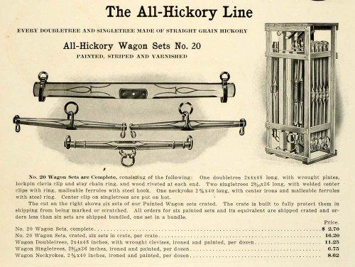 1912-ad-antique-hickory-wagon-yoke-doubletree-singletree-neckyoke-farm-equipment-original-print-ad