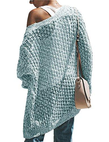 43f5740b65 Saodimallsu Womens Boho Cardigan Sweaters Long Sleeve Oversized Knit Open  Front Sweater Tops at Amazon Women s Clothing store