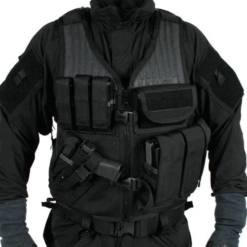 BLACKHAWK! Omega Cross Draw Elite Vest, 6-Inch Length, 32-Inch Girth, Black