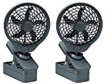 Tools & Hardware : O2 Cool 5 Inch Battery Operated 5 Portable Clip Fan (2 pack)  Grey