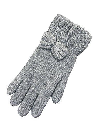 メディックタウポ湖複製するFUWAMOKO GLOVE 婦人防寒手袋 リボン 2重手袋 43501