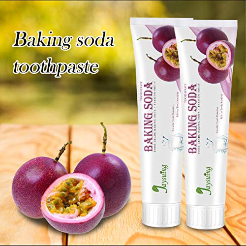Tpingfe 110G Blueberry Passion Fruit Flavor Baking Soda Toothpaste Health (Purple)