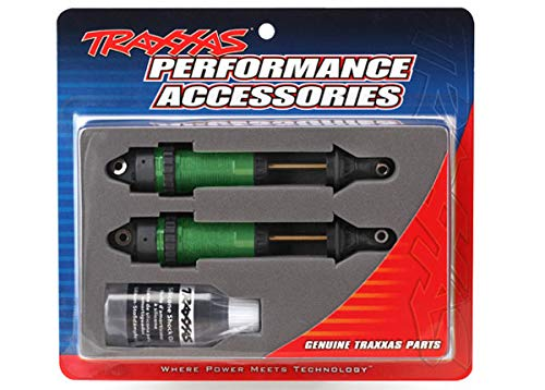 Shocks, GTR xx-Long Green-Anodized, PTFE-Coated Bodies with TiN shafts (Fully Assembled, Without Springs) (2)