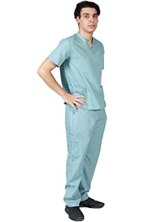 69e9099f3f4 Amazon.com: NATURAL UNIFORMS Men's Scrub Set Medical Scrub Top and ...