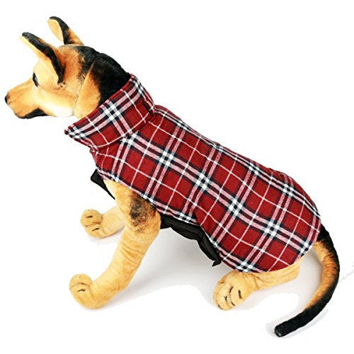 British Style Plaid Dog Vest by IN HAND - Cold Weather Coats For Dogs