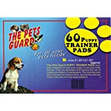 The Pets Guard, Training Potty Pads for Pets Dogs and Cats, Durable and Absorbent, Size 21 x 21 Inches, 60 Count