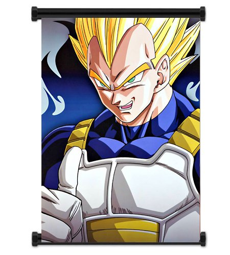 Dragon Ball Z Anime Vegeta Fabric Wall Scroll Poster  Inches