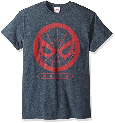 Marvel Men's Spider-Man Amazing Red Design T-Shirt, Dark Heather, (Amazing Tee)