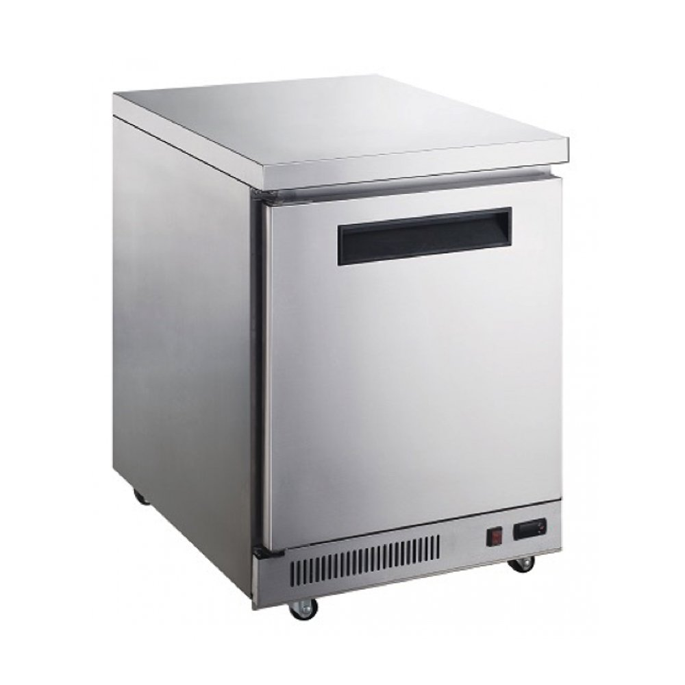 Dukers Appliance USA DUK600162377974 Dukers Commercial Undercounter Table Refrigerator, 1 Door, 29'' Width x 31'' Depth x 36'' Height, Silver, Stainless steel