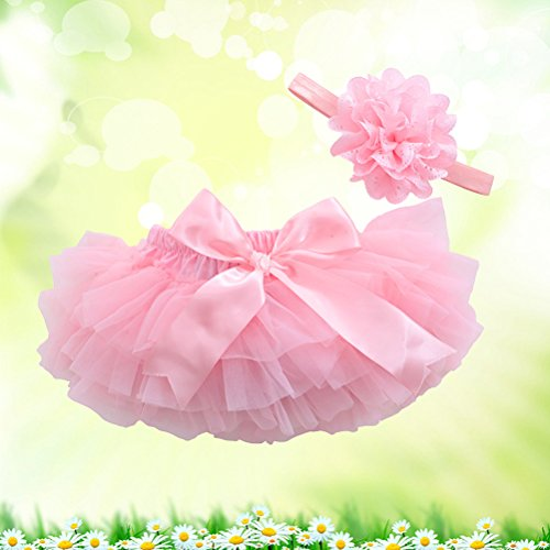 35d001c8b83b FENICAL Tutu Skirt and Flower Headband Baby Girls Photography Props ...