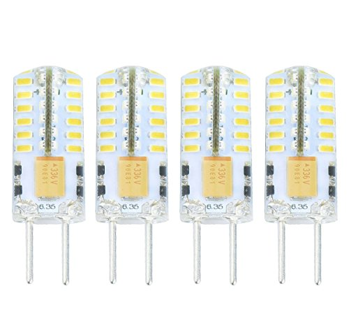 Lamsky G6.35 GY6.35 Bi-Pin Base LED Bulb 12V/24V 2.5 Watt Warm White 3000K Non-dimmable 30W Equivalent(4-Pack)