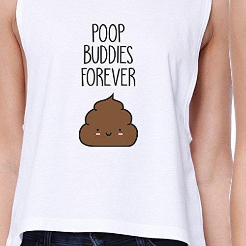 estampado estampado Poop 365 Buddies Size sin con blanco One Camiseta mangas FtPHq