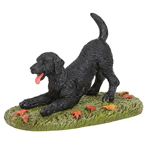 Department 56 Village Accessories - Department 56 Village Collections Accessories Playful Black Lab Figurine, 1.75