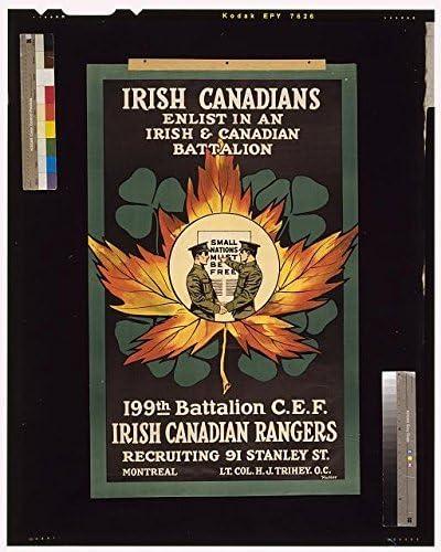 World War I,WWI,Irish Canadians,Enlist in Battalion,Irish Canadian Rangers,1915