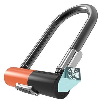 260Mah Candado Bici,Impermeable Huella Dactilar Seguridad Antirrobo Cerradura Electronica Con Clave Para Bicicleta Montaña&Moto&Puerta