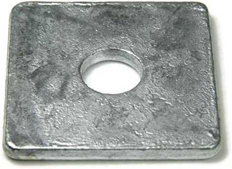100 Pcs of 5//8 ID 11//16 THK 0.125 Square Washer Hot Dip Galvanized OD 2