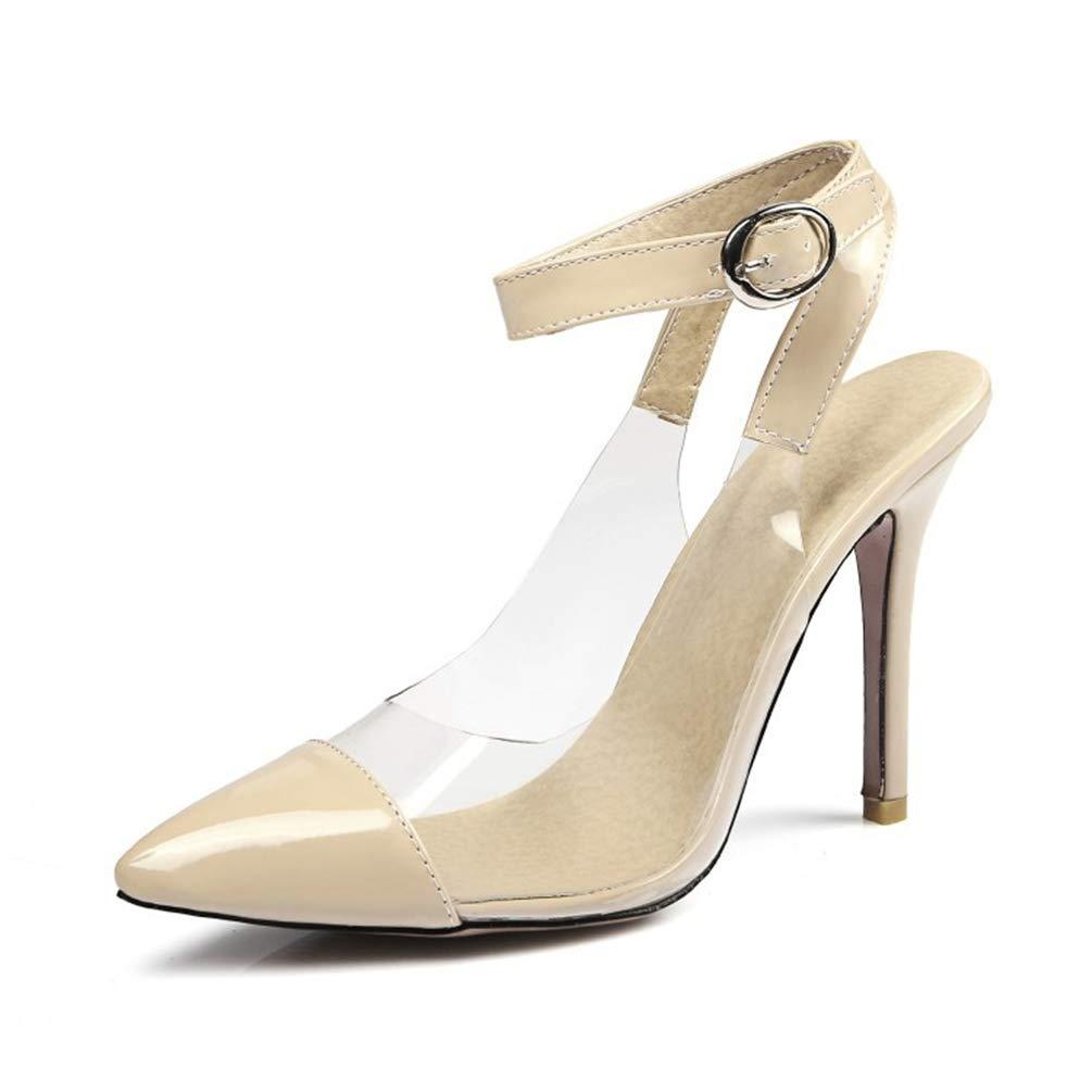 69cd4e1c288127 Femmes Sandales Hauts Talons Aiguilles Chaussures Vernis Transparent Pumps  Mode Bride Escarpins: Amazon.fr: Chaussures et Sacs