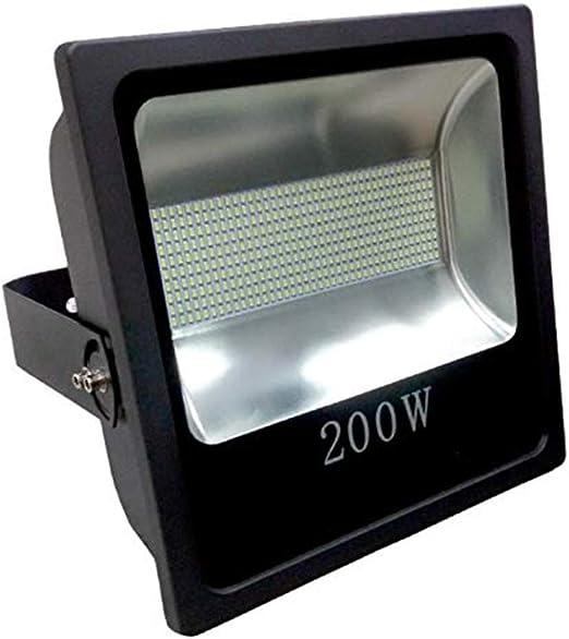 Foco Proyector LED 200W Alta Potencia Luz Blanco Frio K6000 IP65 Luminaria Exterior Estadio Jardin Fachada Nave industrial Gasolineras Futbol Tenis Padel Restaurante: Amazon.es: Iluminación