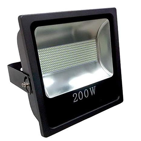 Foco Proyector LED 200W Alta Potencia Luz Blanco Frio K6000 IP65 Luminaria Exterior Estadio Jardin Fachada