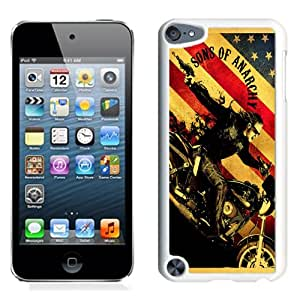 NEW Unique Custom Designed iPod Touch 5 Phone Case With Sons Of Anarchy TV Series_White Phone Case