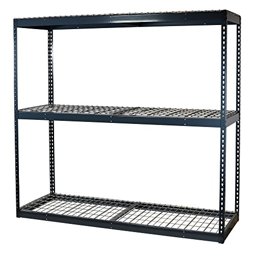 - Storage Pro Garage Shelving Boltless, 3 Shelves, Wire Mesh Decking, Heavy Duty, 900 Lbs Cap/Shelf, 72 x 24 x 72