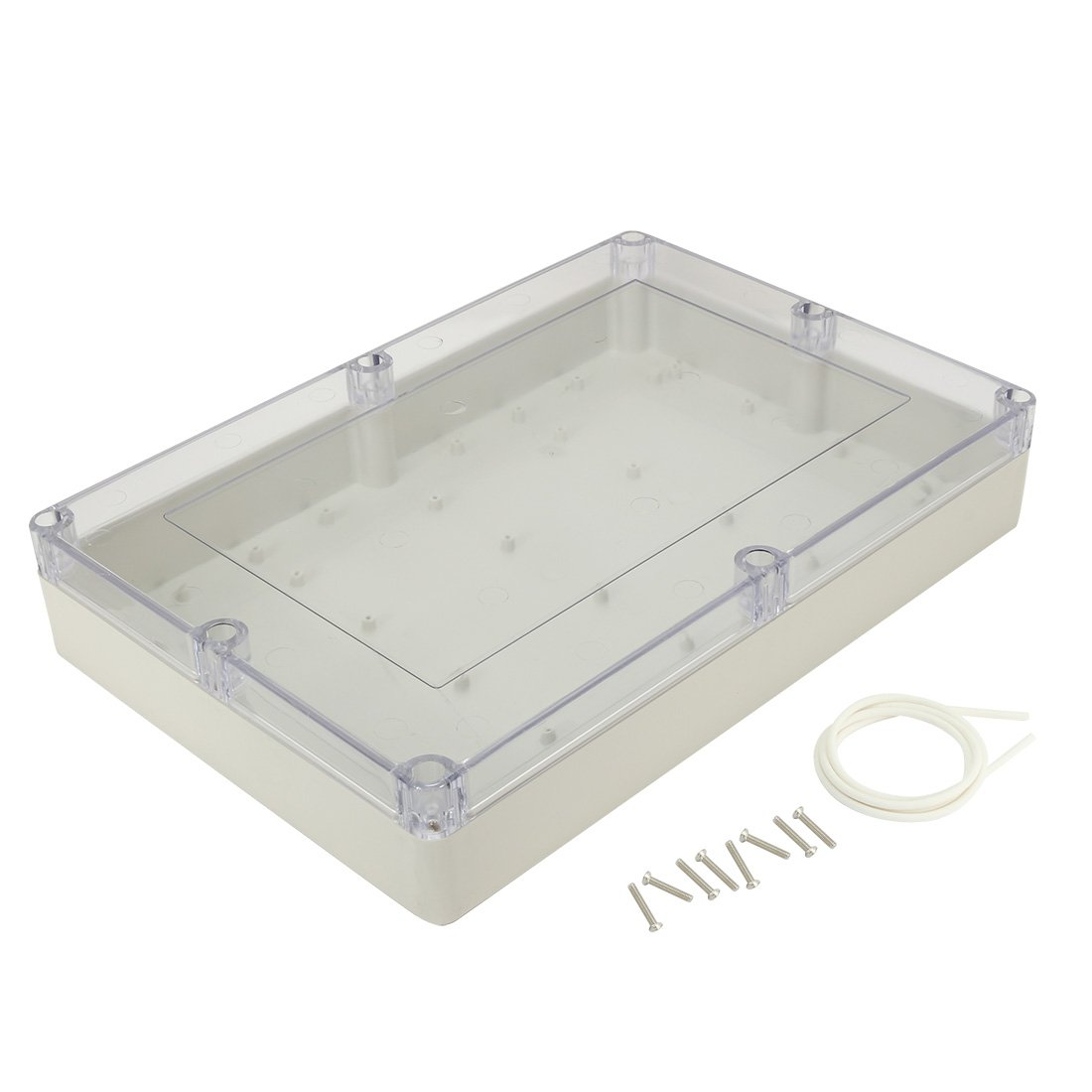 uxcell 4.53'x3.54'x2.16'(115mmx90mmx55mm) ABS Junction Box Electric Project Enclosure Clear a17031600ux1109