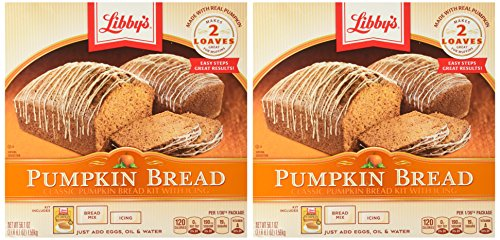 Libby's Pumpkin Bread Kit with Icing, 56.1 Ounce (Pack of 2) (Libbys Pumpkin Bread Recipe With Canned Pumpkin)