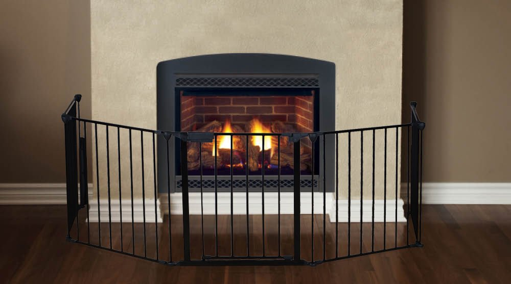 Amazon.com : Fireplace Fence Baby Safety Fire Gate For Kids Pellet Stove Child Toddler BBQ Fence Hearth Gate For Babies Guard With Gate Assembled : Baby