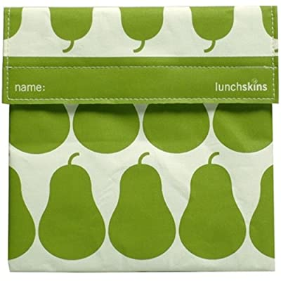 Lunchskins Reusable Velcro Sandwich Bag, Charcoal Bear