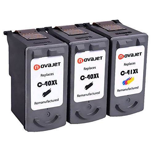 1800 Printer (Novajet 3PK Remanufactured Ink Cartridge Replacement For Canon PG-40 CL-41 0615B002 0617B002(2 Black,1 Color) Comptaible With Canon PIXMA MP150 160 450 460 MX300 IP1600 1800 2600)