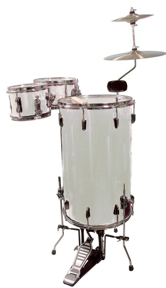 GP Percussion GP75SV Cocktail Drum Set (Silver)