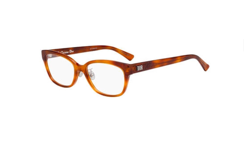 Authentic Christian Dior Lady Digold 2F 0SX7 Light Havana Eyeglasses
