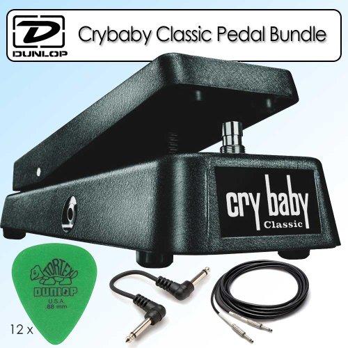 [Dunlop GCB95F Crybaby Classic Wah Pedal Bundle With Accessories] (Dunlop Crybaby Classic Wah Pedal)