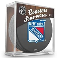 Sher-Wood New York Rangers NHL Eishockey Puck Untersetzer (4er Set)