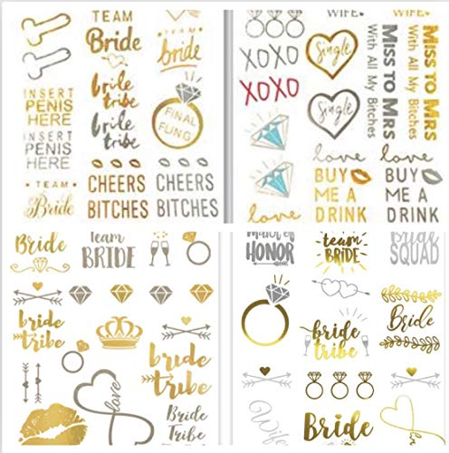 Naughty Halloween Party Las Vegas (Bachelorette Party Tattoos- Bridesmaid Tattoos, Team Bride,Bridal Shower Favor and Decorations,(4 Sheets with 62 Tattoos) Girls Nights Out Temporary Flash)