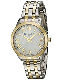 Nivada NP16174LBICBR Reloj Análogo, color Blanco/Plata
