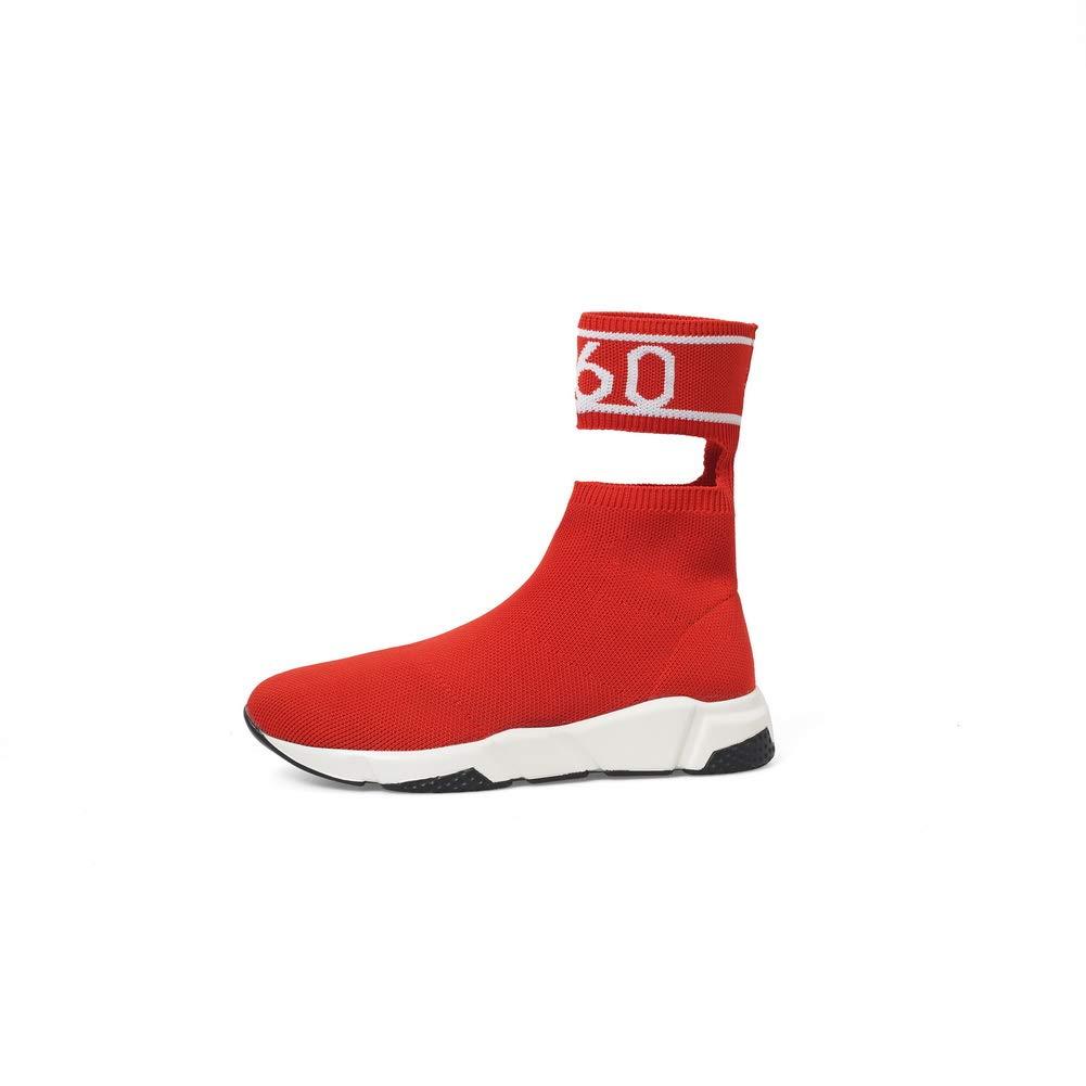 Aimint EZR00629, Damen Durchgängies Plateau Sandalen mit Keilabsatz, Keilabsatz, Keilabsatz, Rot - rot - Größe  36 5f7609