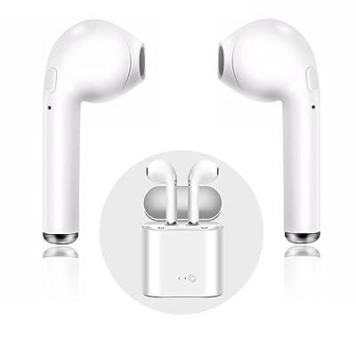 écouteurs Sans Fil, écouteur Bluetooth 4.1, Intra de auriculaires de deportes Oreillette Sans Fil Stéréo compatible con Apple iPhone, Android, Windows Smartphone et Autres appareils Bluetooth (Blan