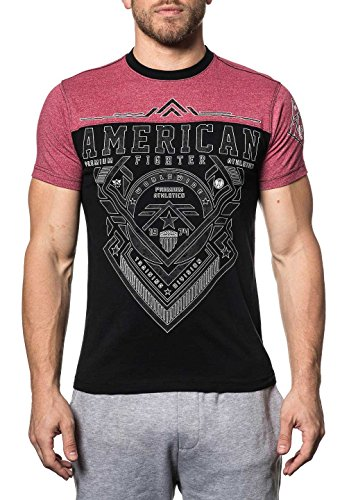 American Fighter Men's Mayhill Tee Shirt Black/Red X-Large