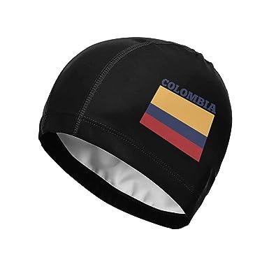 Suhatt Gorra de natación, Colombia Flag Swim Cap for Women Men ...