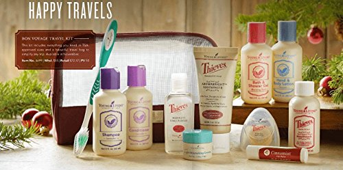 Young Living Bon Voyage Travel Kit- Toiletries (Young Living Purifier)