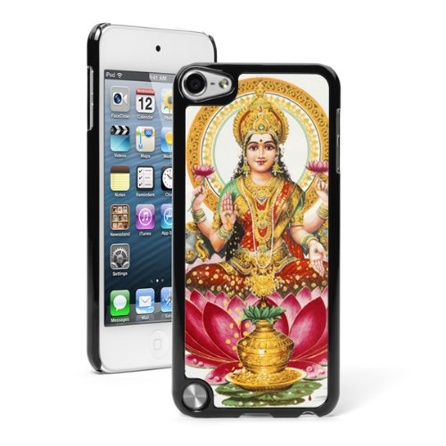 apple-ipod-touch-5th-6th-black-hard-back-case-cover-5tb222-color-om-lakshmi-goddess