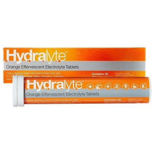 Hydralyte Effervescent Electrolyte Tablets Orange 20 Tabs